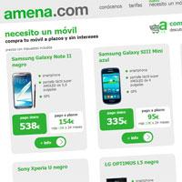 Amena.com incorpora una tienda online de móviles