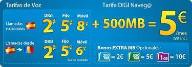 Digi Mobil lanza nuevos bonos extras de datos, desde dos euros por 200 Mb