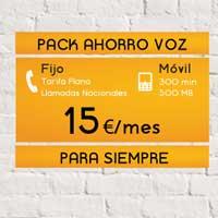 Jazztel añade 'Pack Ahorro Voz' (teléfono fijo, móvil y 3G)